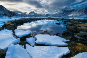 fiordo ghiaccio norvegia